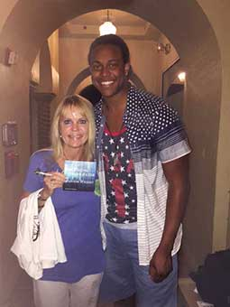 American Idol alumnus Savion Wright and me